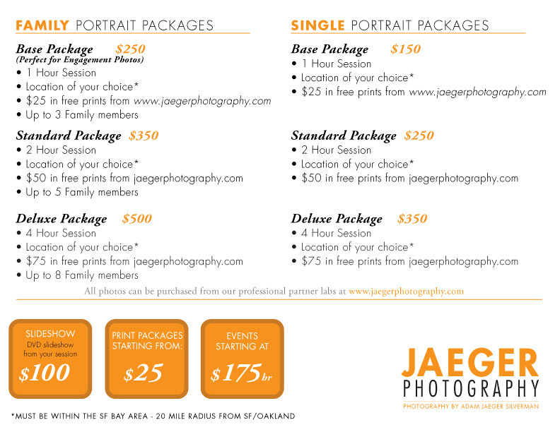 photography price list pdf Jaeger Photography | Price list